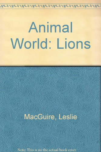 9780001847217: Animal World: Lions