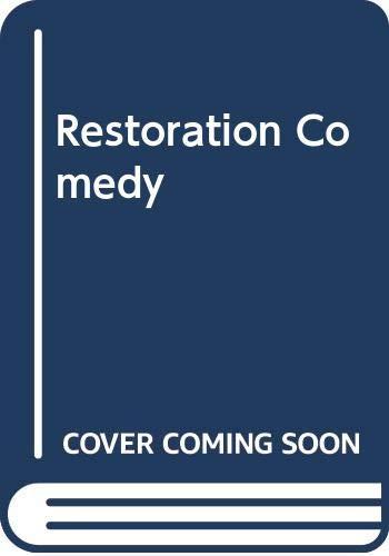 9780001944725: Restoration Comedy