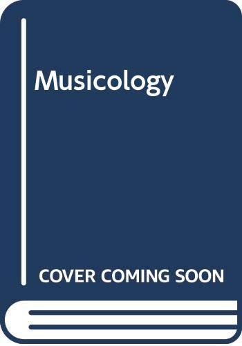 9780001971707: Musicology (Fontana masterguides)