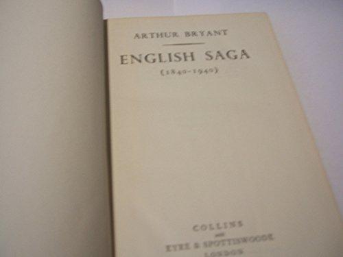 9780002112055: English saga (1840-1940)