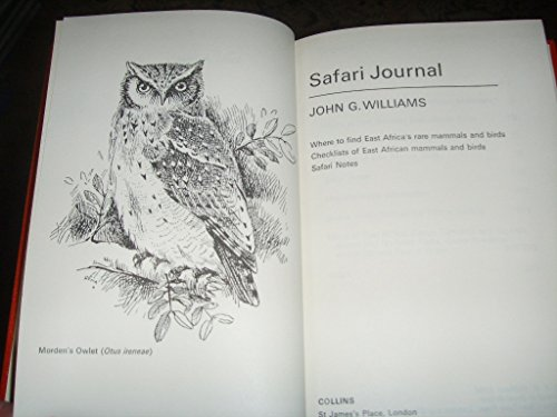 9780002117791: Safari Journal