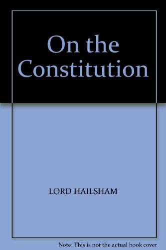 9780002159982: On the Constitution