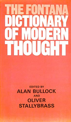 9780002161497: The Fontana Dictionary of Modern Thought