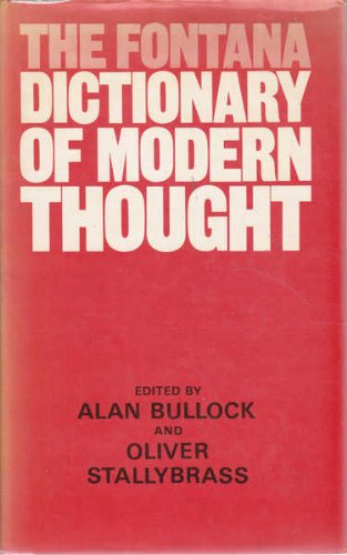 9780002161497: Fontana Dictionary of Modern Thought