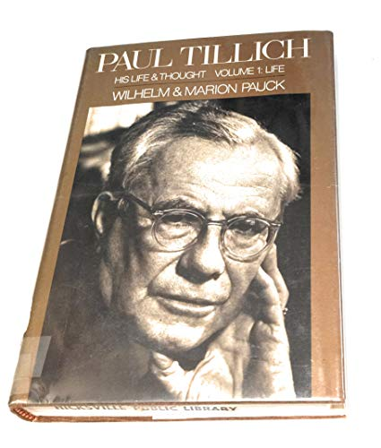 9780002166508: Paul Tillich: His Life and Thought, vol.I: life