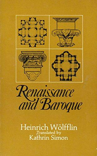 9780002173490: Renaissance and Baroque