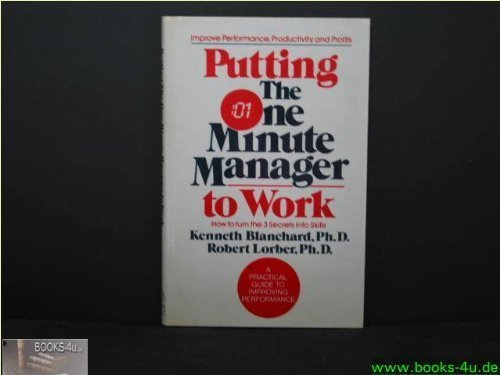 9780002181181: Putting the One Minute Manager to Work