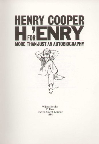 9780002181402: H. for 'Enry: More Than Just an Autobiography