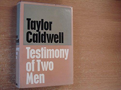 9780002218252: Testimony of two men
