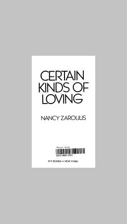 9780002233453: Certain Kinds of Loving