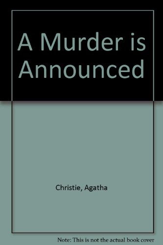 A Murder Is Announced: Christie,Agatha