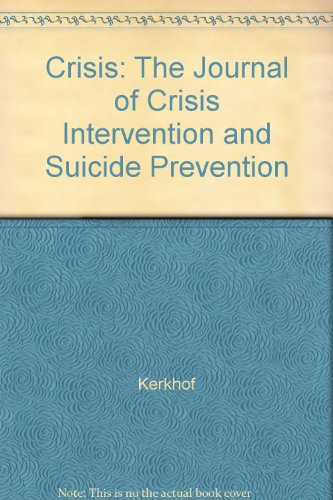 9780002275910: Crisis: The Journal of Crisis Intervention and Suicide Prevention