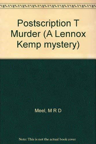 9780002325790: Postscription T Murder (A Lennox Kemp mystery)
