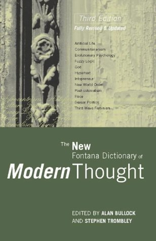 9780002558716: New Fontana Dictionary of Modern Thought