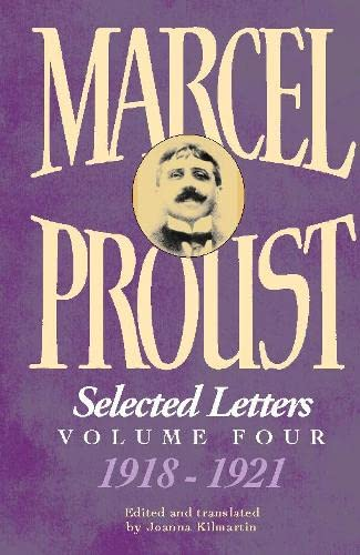 9780002570329: Selected Letters of Marcel Proust, Vol. 4, 1918-1921