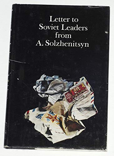 9780002624572: Letter to Soviet leaders