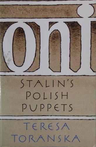 9780002718165: Oni: Stalin's Polish Puppets