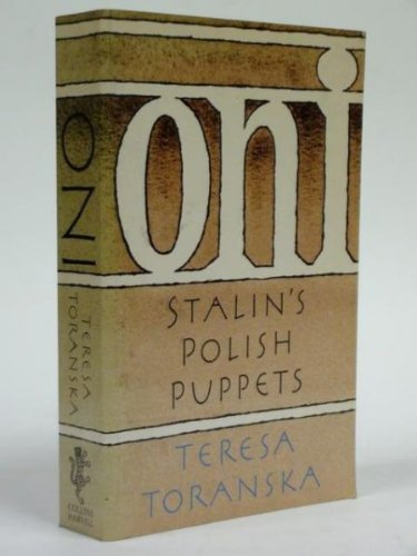 9780002718165: Oni: Poland's Stalinists Cross-examined