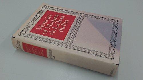 9780002725026: Memoirs of Madame de la Tour du Pin;