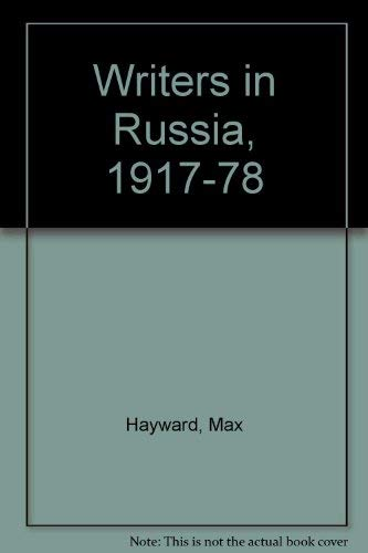 9780002725071: Writers in Russia, 1917-78
