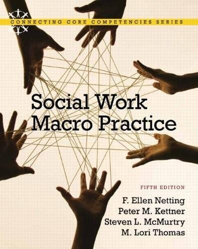9780002872317: Social Work Macro Practice (5th, Fifth Edition) - By F.E. Netting, P.M. Kettner, S.L. McMurtry, & M.L. Thomas by F. Ellen Netting / Peter M. Kettner / Steve L. McMurtry / M. Lori Thomas (2011-05-03)