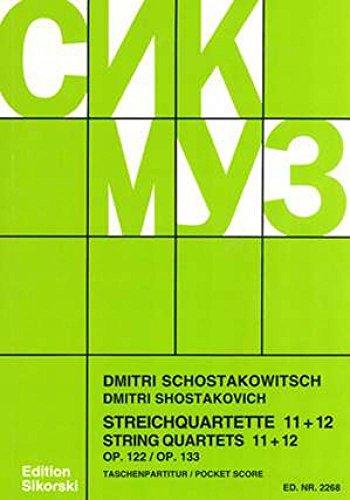 9780003018158: Shostakovich: String Quartets No. 11 & 12 Op. 122 & 133 Score Only