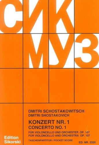 9780003018585: Concerto for Cello & Orchestra No.1, Op.107.  Miniature Score