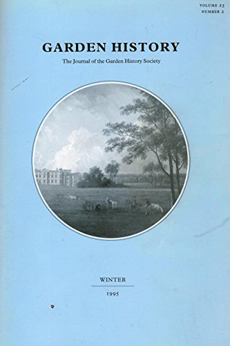 Garden History - The Journal of the: Crawley, Jane &