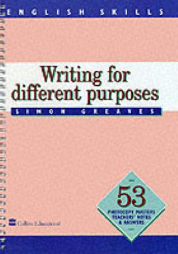 9780003143997: English Skills ? Writing for Different Purposes