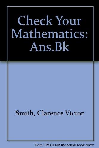 9780003186284: Check Your Mathematics: Ans.Bk