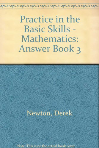 9780003187953: Practice in the Basic Skills - Mathematics: Answer Book 3