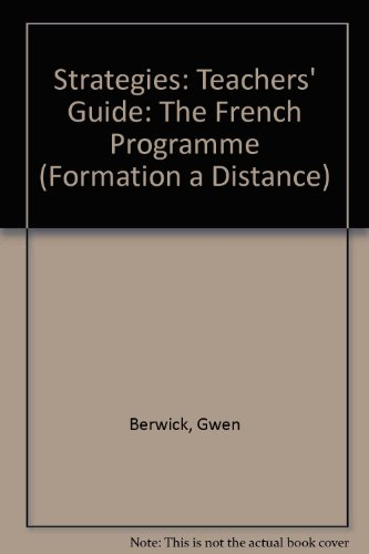 9780003201024: Strategies: Teachers' Guide: The French Programme (Formation a Distance)