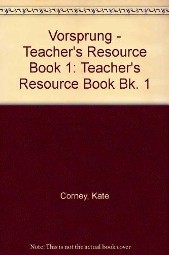 9780003201406: Vorsprung: Teacher's Resource Book Bk. 1