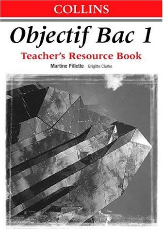 9780003202540: Objectif Bac - Level 1 Teacher's Resource Book: Teacher's Book Level 1