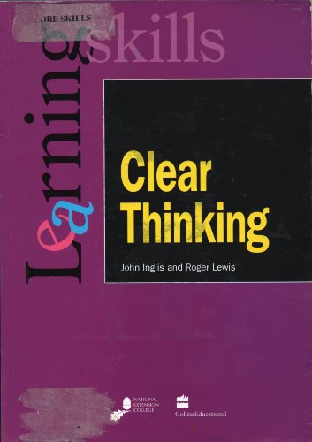 9780003223477: Clear Thinking (Learning Skills)