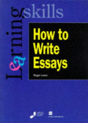 9780003223491: How to Write Essays (Learning skills series)