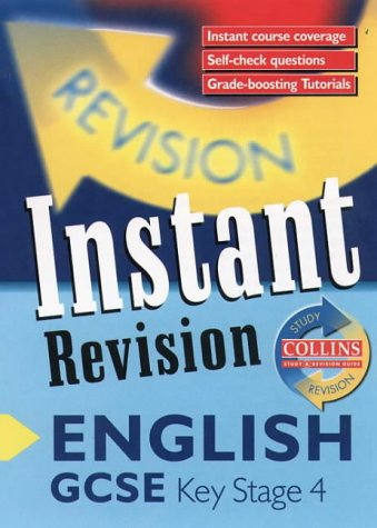 9780003235111: Instant Revision - GCSE English: Instant Revision Cards (Collins Study & Revision Guides)