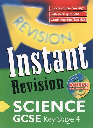9780003235159: GCSE Science: Instant Revision Cards (Collins Study & Revision Guides)