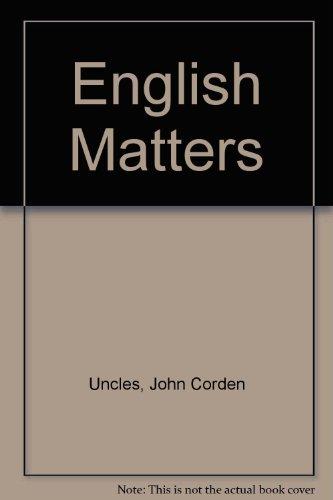 9780003253139: English Matters