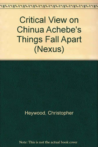 9780003263459: Critical View on Chinua Achebe's