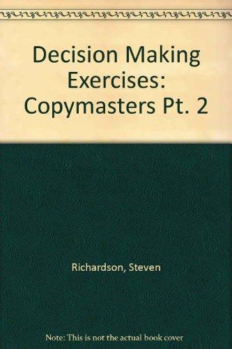 9780003266283: Decision Making Exercises: Copymasters Pt. 2