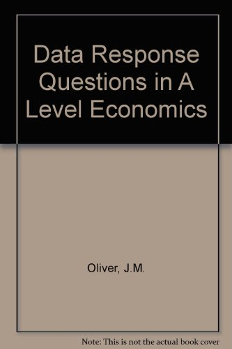 9780003274004: Data Response Questions in A Level Economics