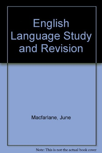 9780003277920: English Language Study and Revision
