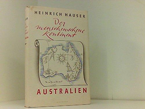 9780003469998: Australien- Der Menschenscheue Kontinent