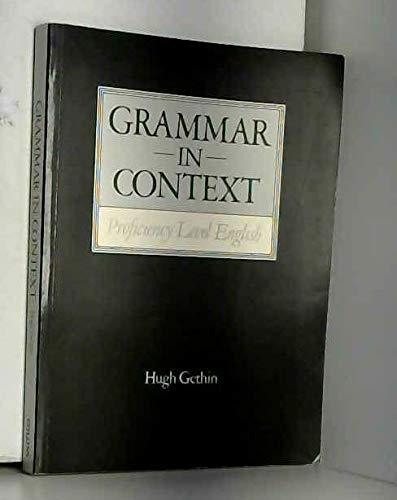 9780003700251: Grammar in Context