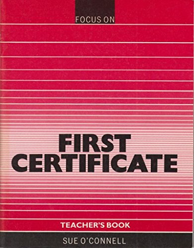 9780003700527: Focus on First Certificate: Tchrs'