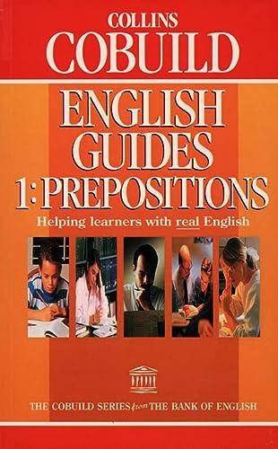 9780003705201: Collins Cobuild English Guides (1) - Prepositions: Prepositions Bk. 1