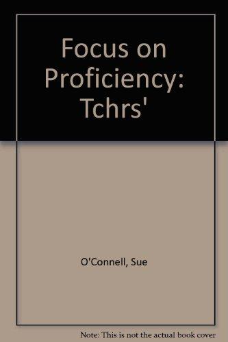 9780003706321: Focus on Proficiency: Tchrs'