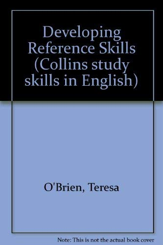 9780003706628: Developing Reference Skills (Collins study skills in English)
