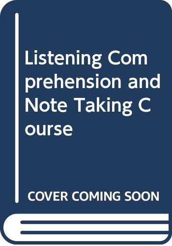 9780003707816: Listening Comprehension and Note Taking Course